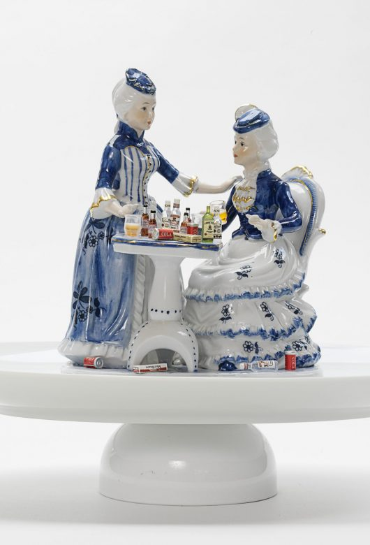 Selected sculptures using found figurines 2003-2007
